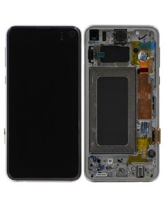 Service Pack - OLED Screen and Digitizer Assembly w/ Frame for Samsung Galaxy S10e (G970) (Prism White)