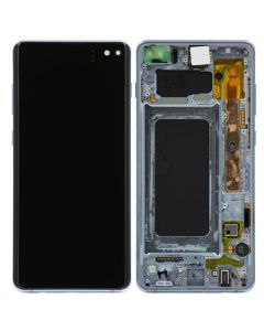Refurbished - OLED Screen and Digitizer Assembly w/ Frame for Samsung Galaxy S10 Plus (G975) (Prism Blue)