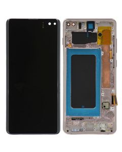 Refurbished - OLED Screen and Digitizer Assembly w/ Frame for Samsung Galaxy S10 Plus (G975) (Canary Yellow)