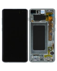 Refurbished - OLED Screen and Digitizer Assembly w/ Frame for Samsung Galaxy S10 Plus (G975) (Prism Green)