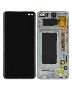 OEM Pull - OLED Screen and Digitizer Assembly w/ Frame for Samsung Galaxy S10 Plus (G975) (Grade B+) (Prism Green)