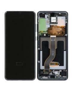 Refurbished - OLED Screen and Digitizer Assembly w/ Frame for Samsung Galaxy S20 Plus (G985) (Cosmic Black)
