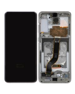 OEM Pull - OLED Screen and Digitizer Assembly w/ Frame for Samsung Galaxy S20 Plus (G985) (Grade B) (Cloud White)