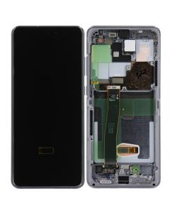 Refurbished - OLED Screen and Digitizer Assembly w/ Frame for Samsung Galaxy S20 Ultra (All Carriers except Verizon 5G UW) (G988) (Cosmic Gray)
