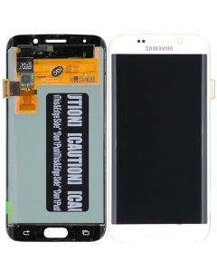 Refurbished - OLED Screen and Digitizer Assembly for Samsung Galaxy S6 Edge (G925) (No Frame) (White Pearl)