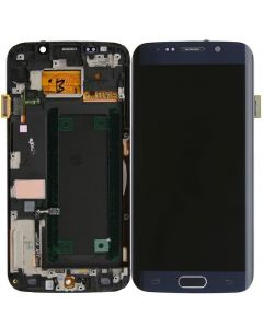 Refurbished - OLED Screen and Digitizer Assembly w/ Frame for Samsung Galaxy S6 Edge (G925) (Blue)