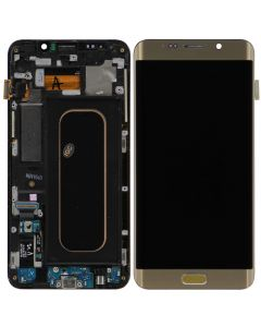 Replacement Samsung Galaxy S6 Edge + Plus LCD Screen & Digitizer Assembly, Gold with Home Button Keypad
