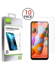 Samsung Galaxy A11 - Airium 10 Pack Tempered Glass Screen Protector 2.5D - Clear
